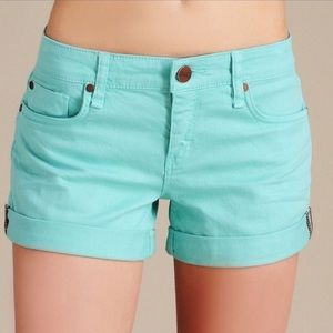 Sanctuary mint Denim shorts